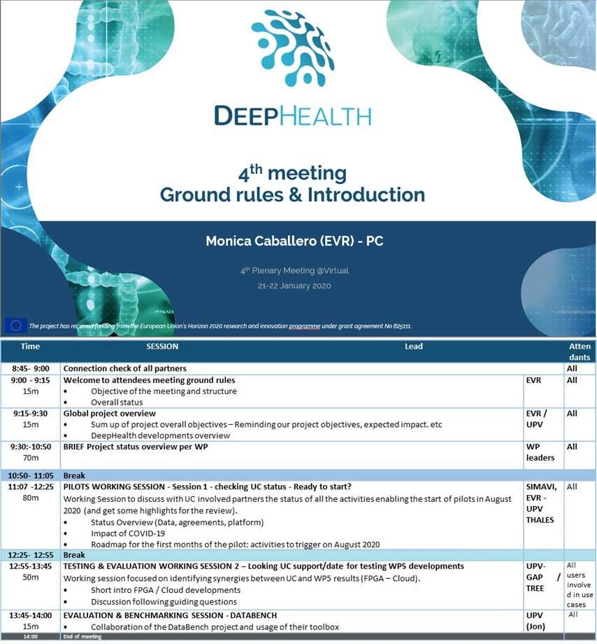 DeepHealth 4th Plenary Meeting
