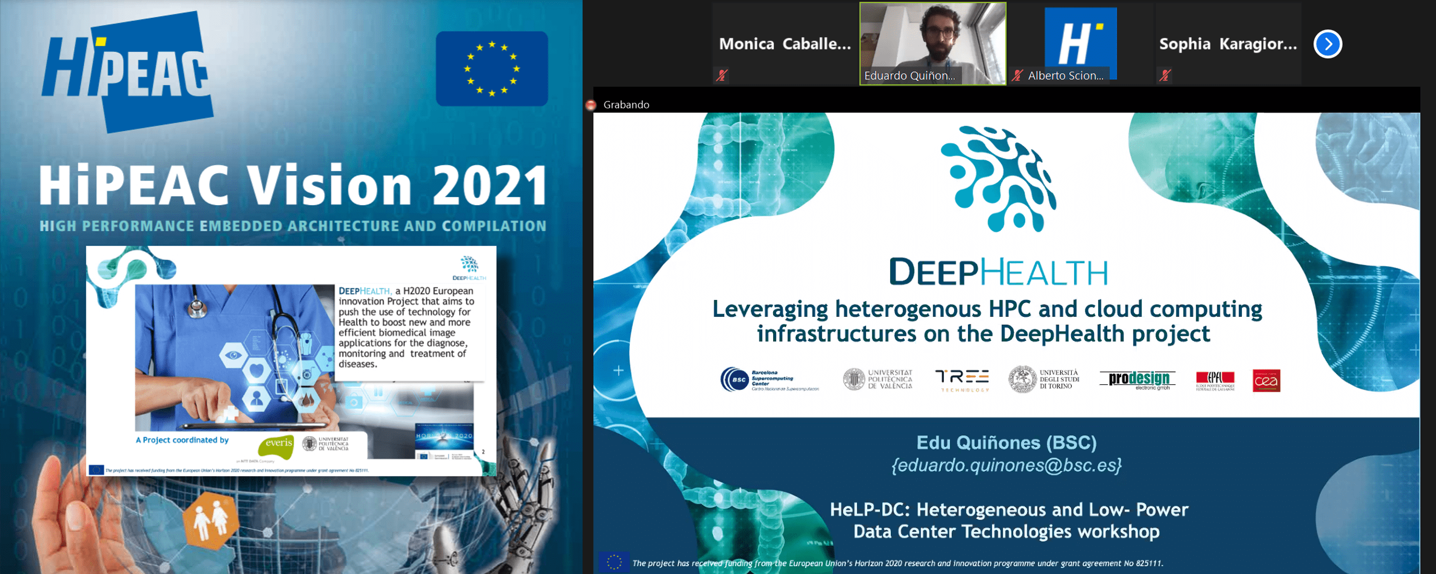 Great presence of DeepHealth at HiPEAC 2021
